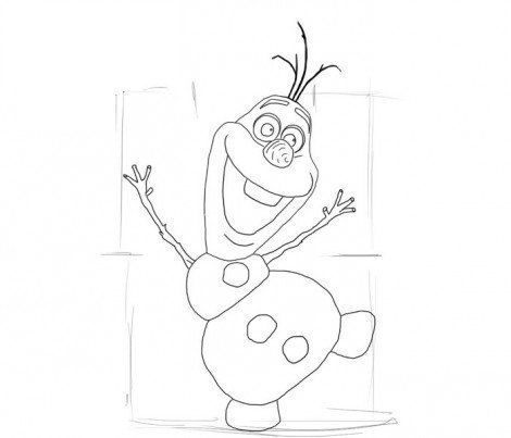 frozen from olaf draw art