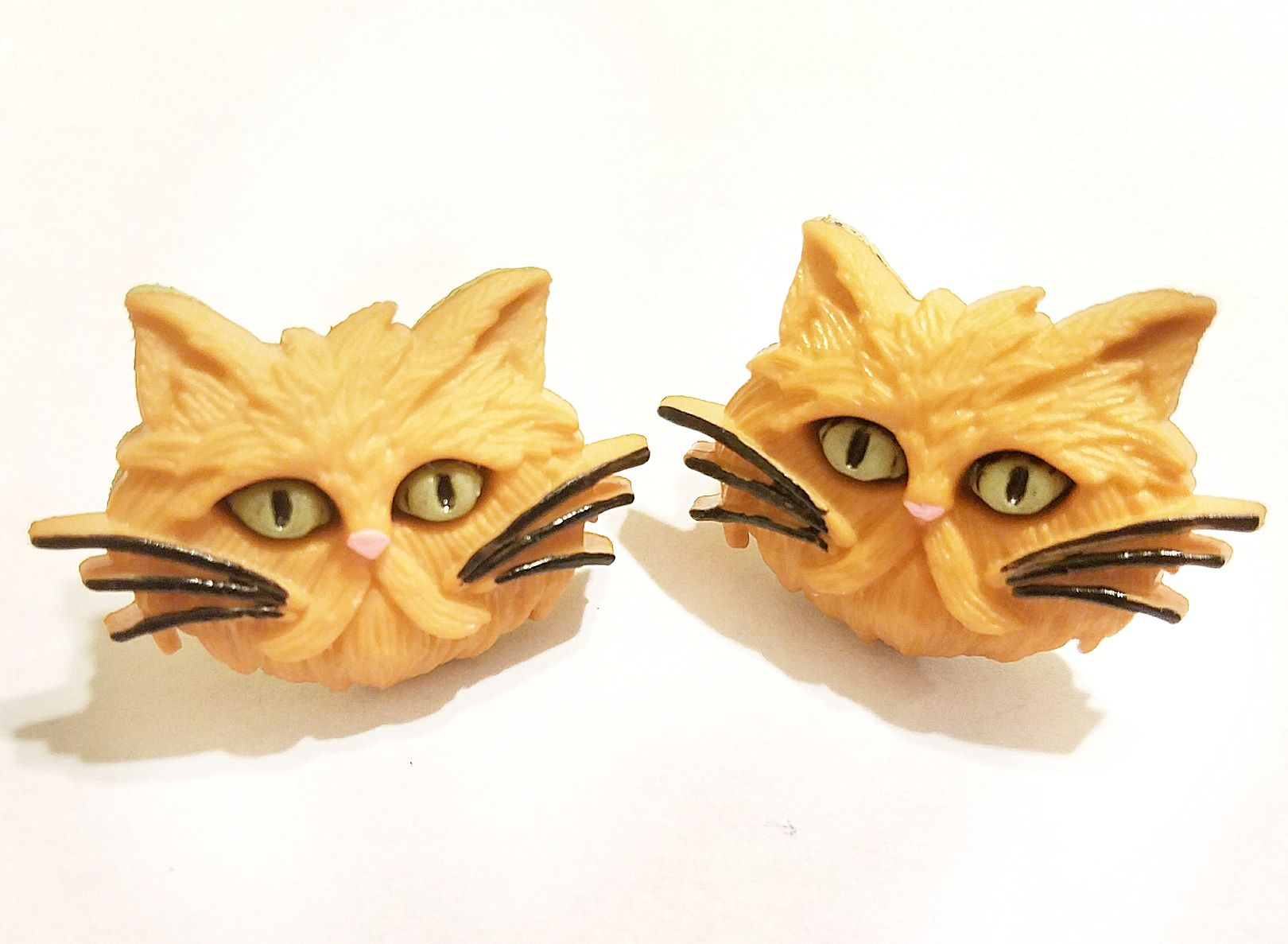 unique earrings cats jewelry kriszcreations giftsforher gingercats