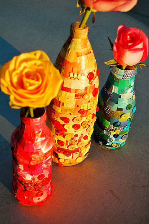 art wine bottles modern decorate