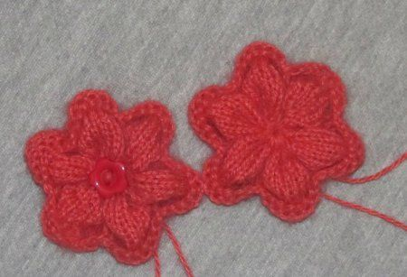 goods decorated textile knit flower