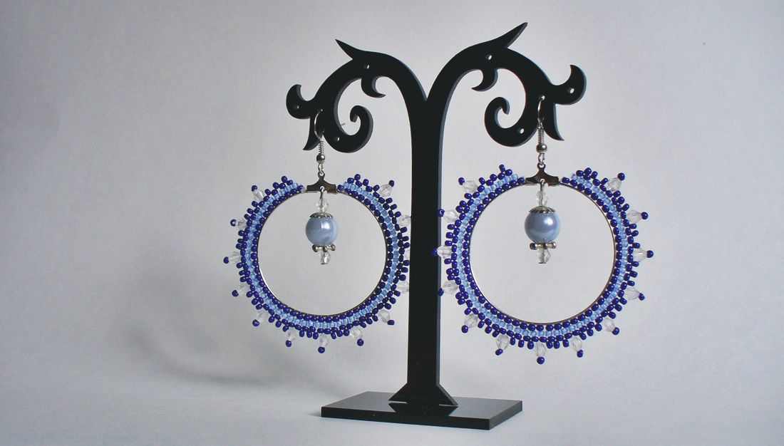 beads earrings jewelry pearl blue