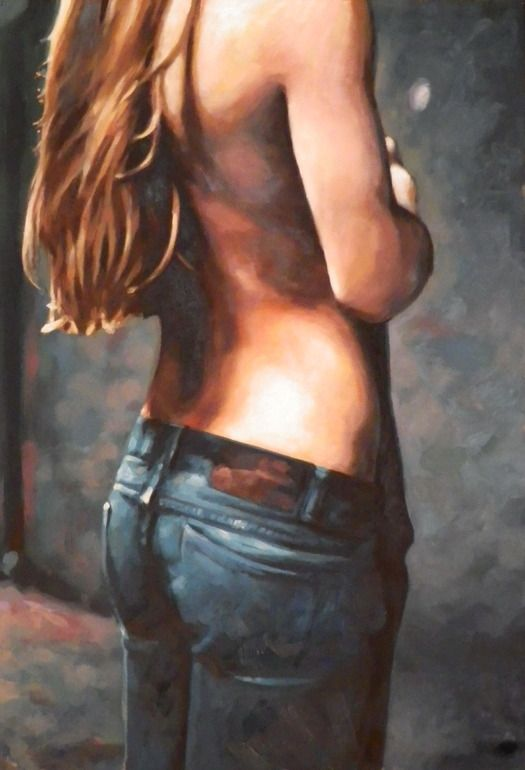 girl oil woman contemporary sensuality romance erotic artwork art