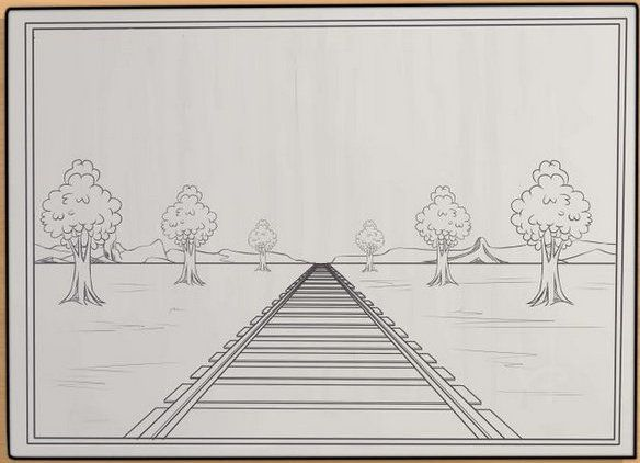 art basic perspective dot draw