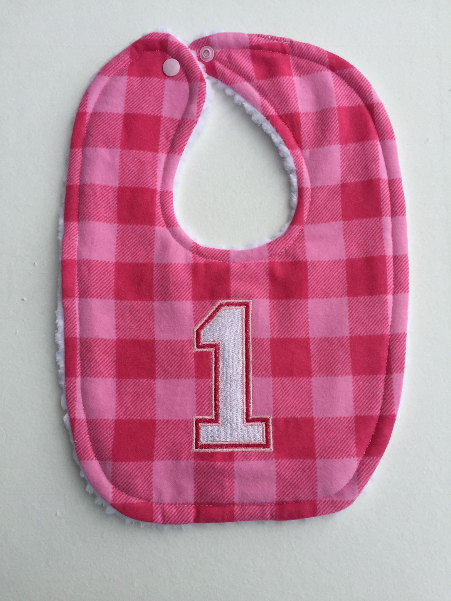 girl birthday woodland baby pink dribble checked 1st girls bibs buffalo lumberjack bib essentials plaid for party