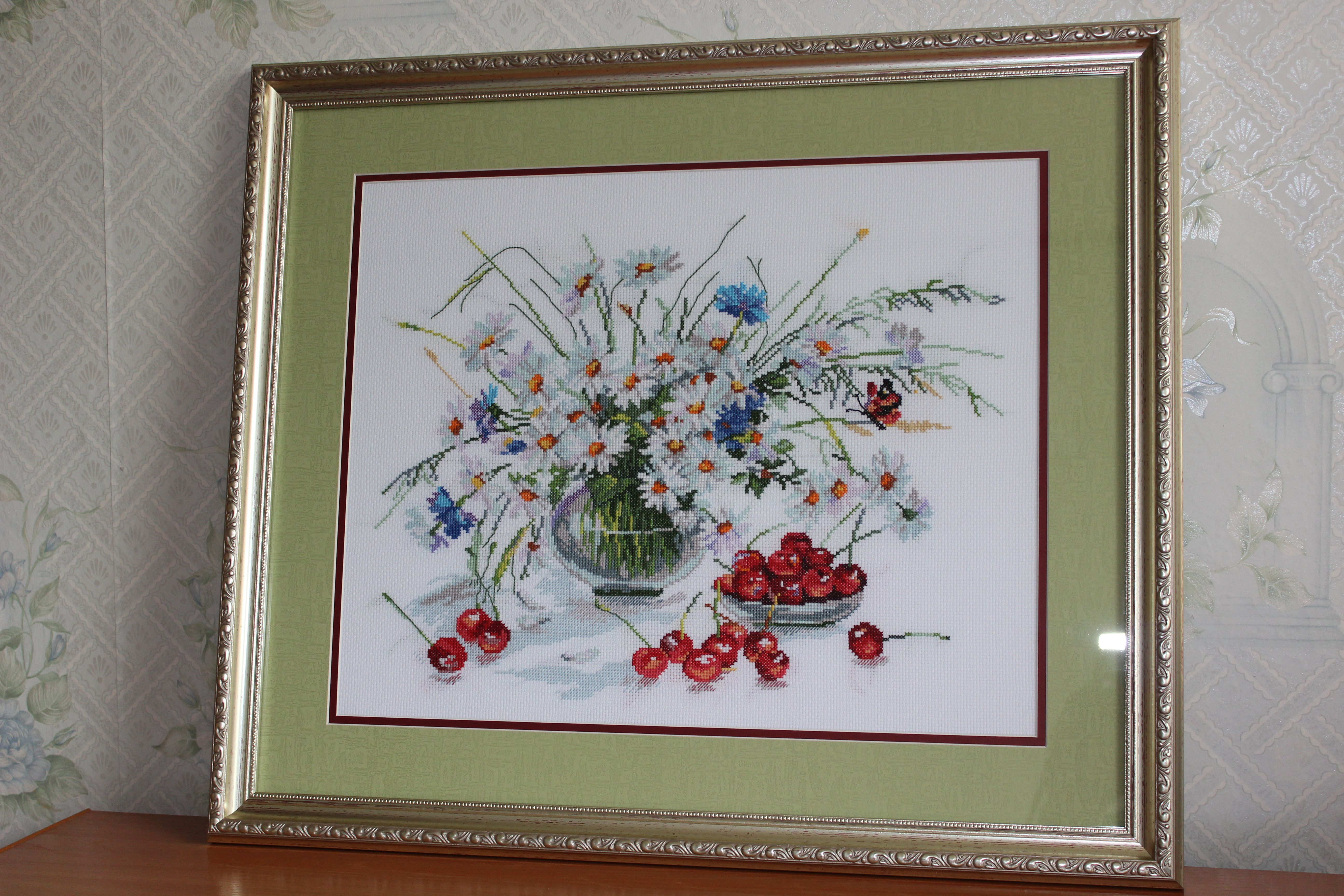 handmade interior cherry picture