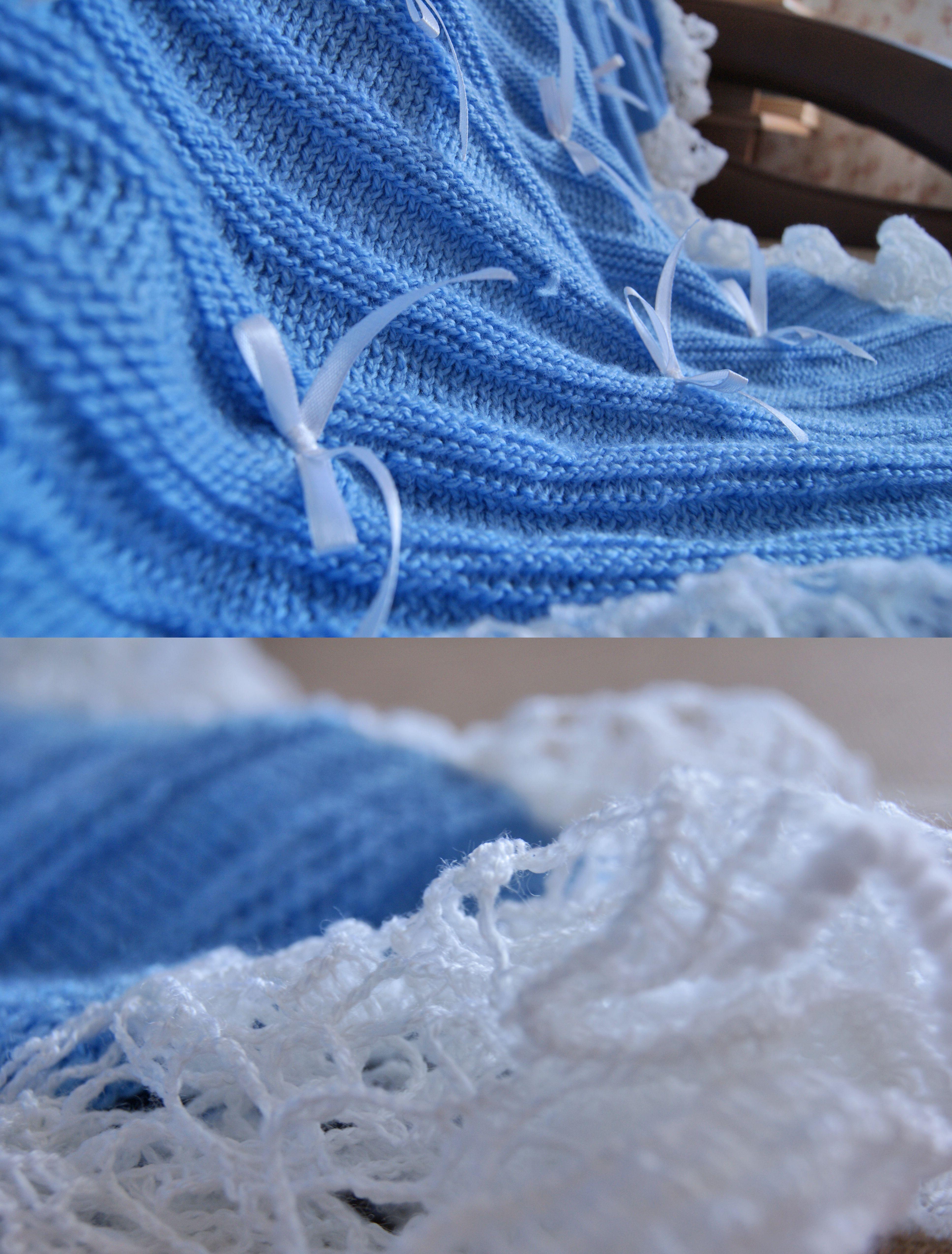 white interior blue blanket kids