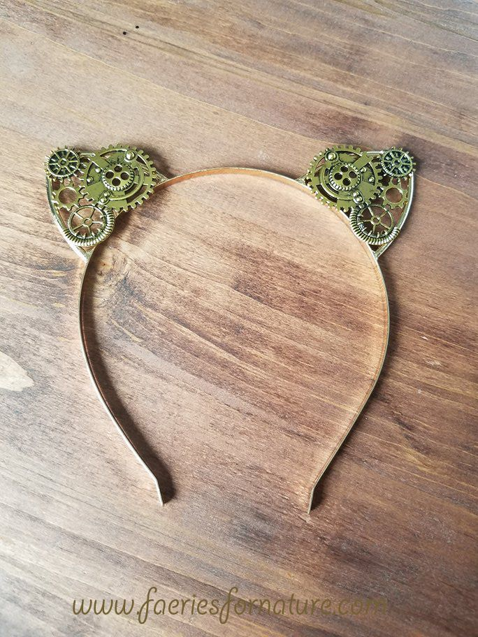 lover cosplay ear wire tiara cat her gift band wrapped head costume girls kitty ears headband steampunk for