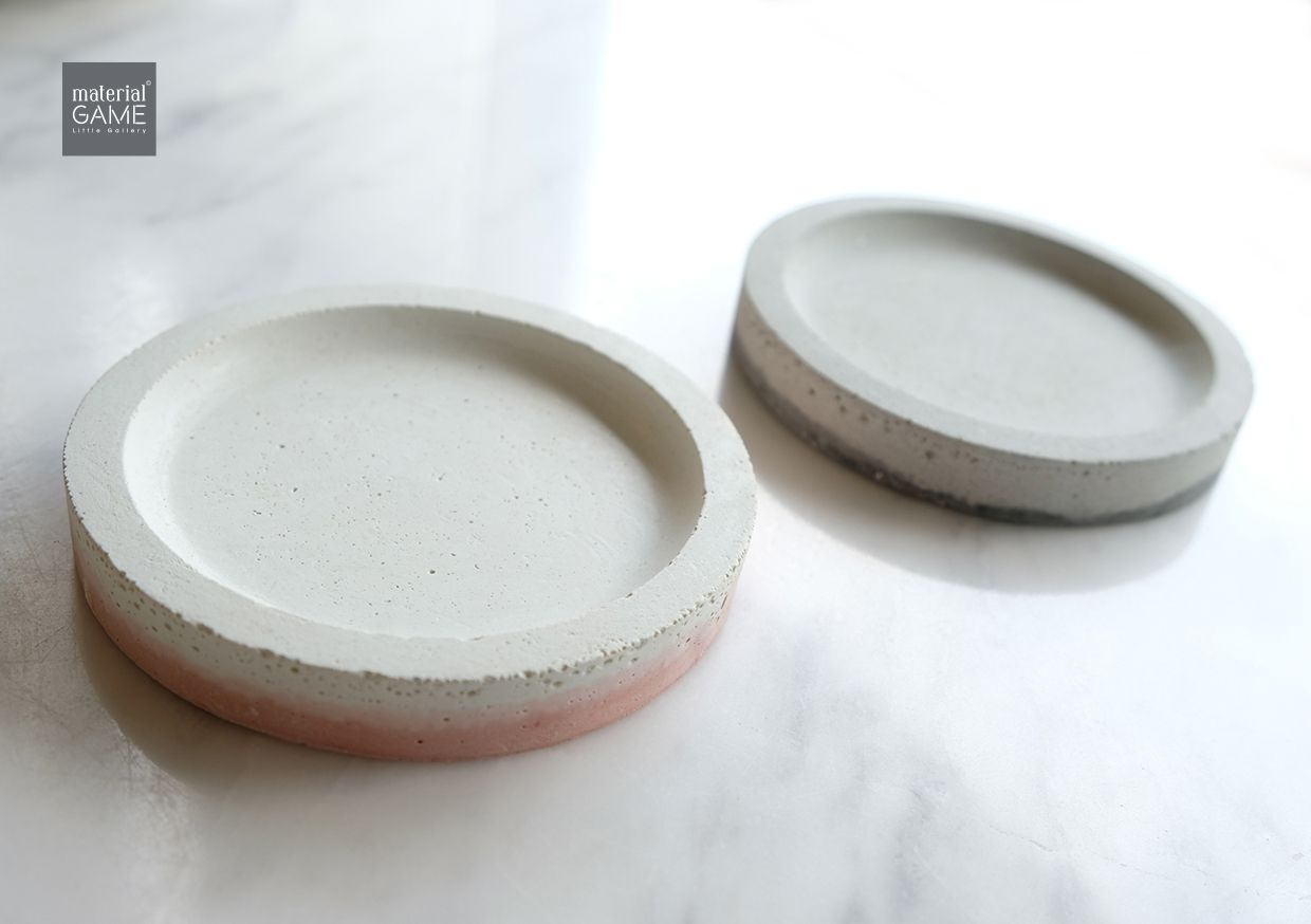 decor pink coaster concrete grey home handicrafts minimal design