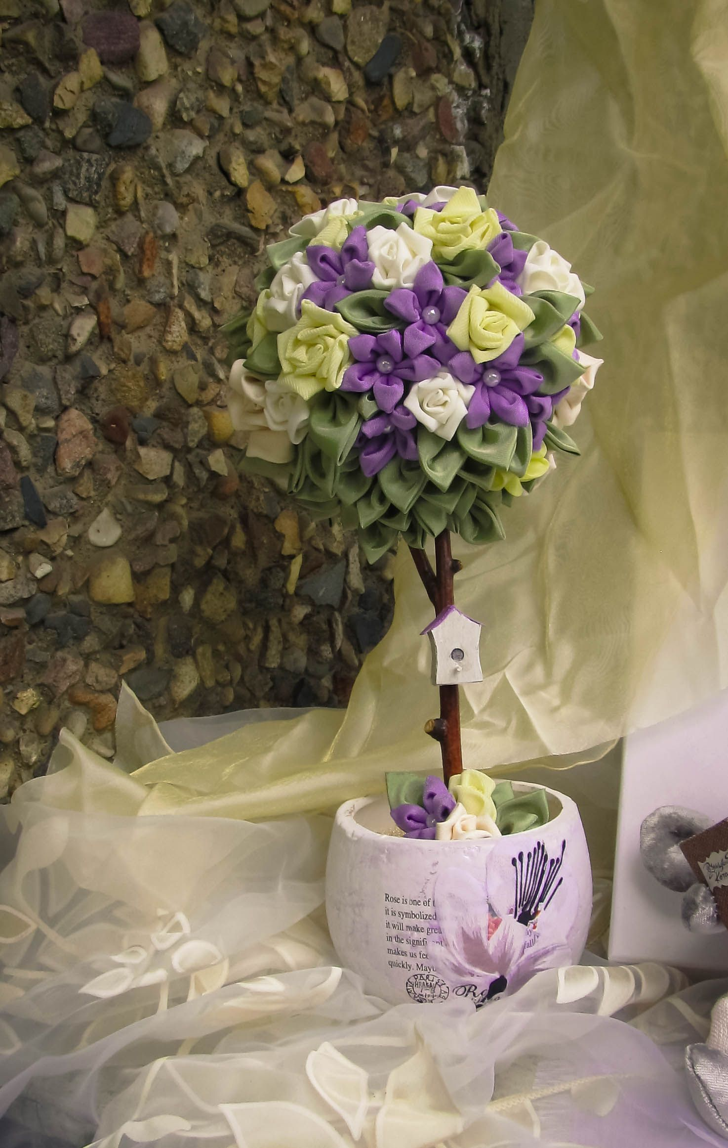 flower decor interior tree topiary