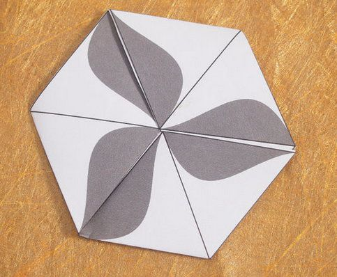 paper hexaflexagon hexahedron crafts make