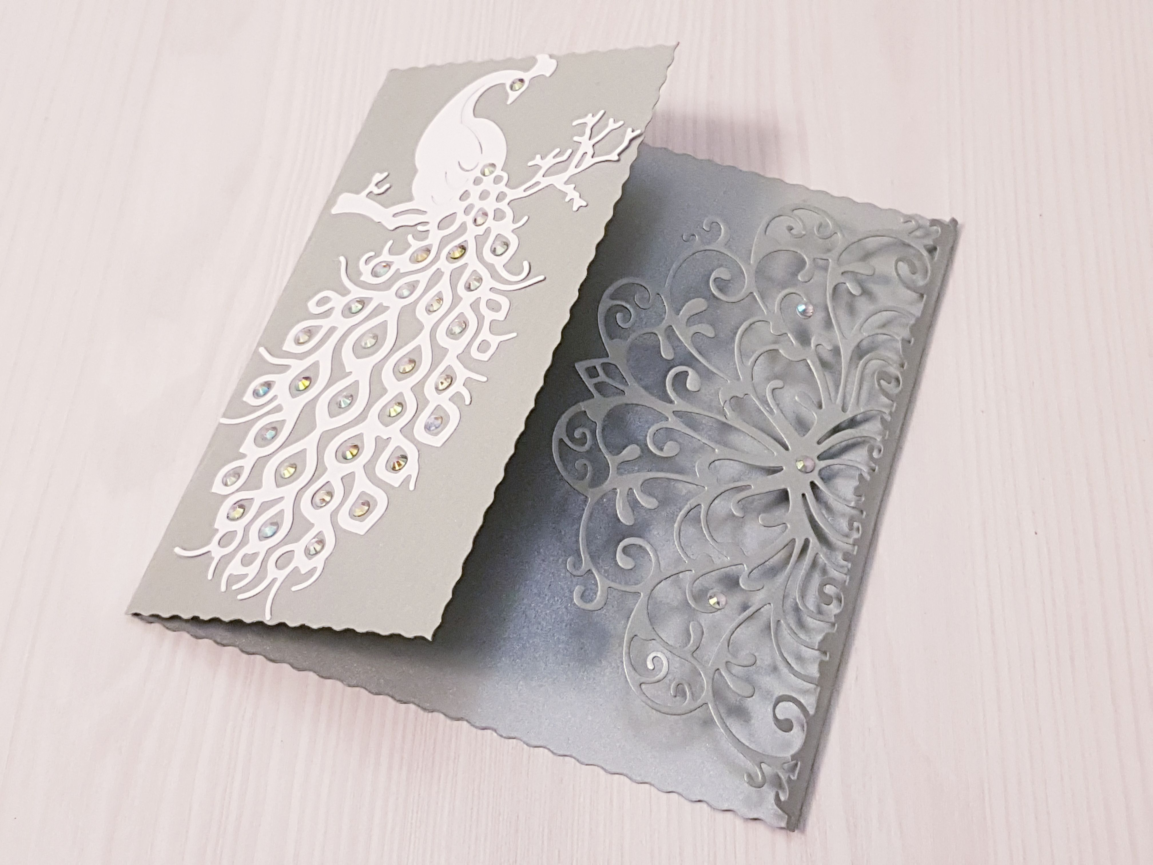 card envelope decor gift feathers paper wedding peacock purple
