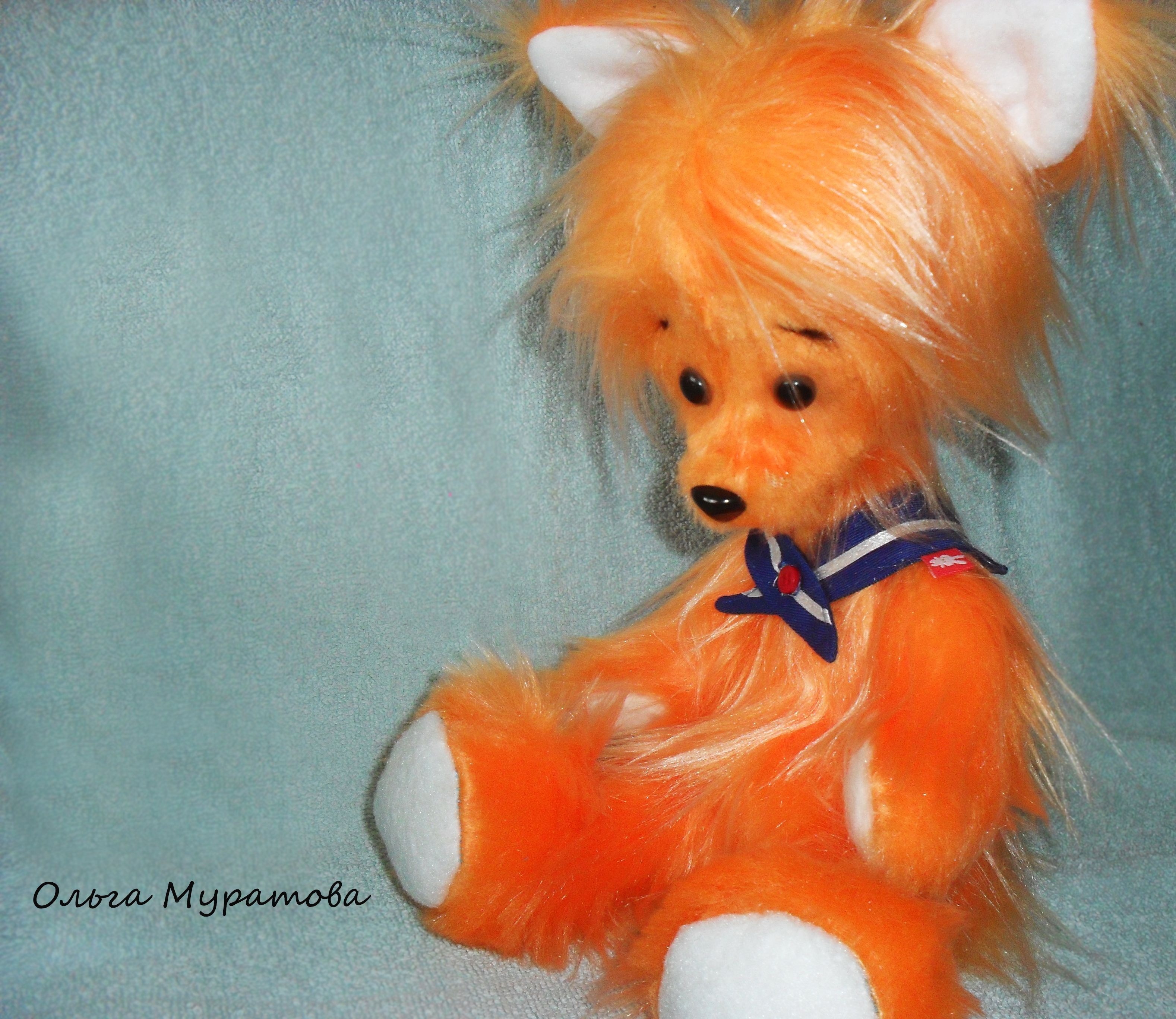 fox toy orange kids bear