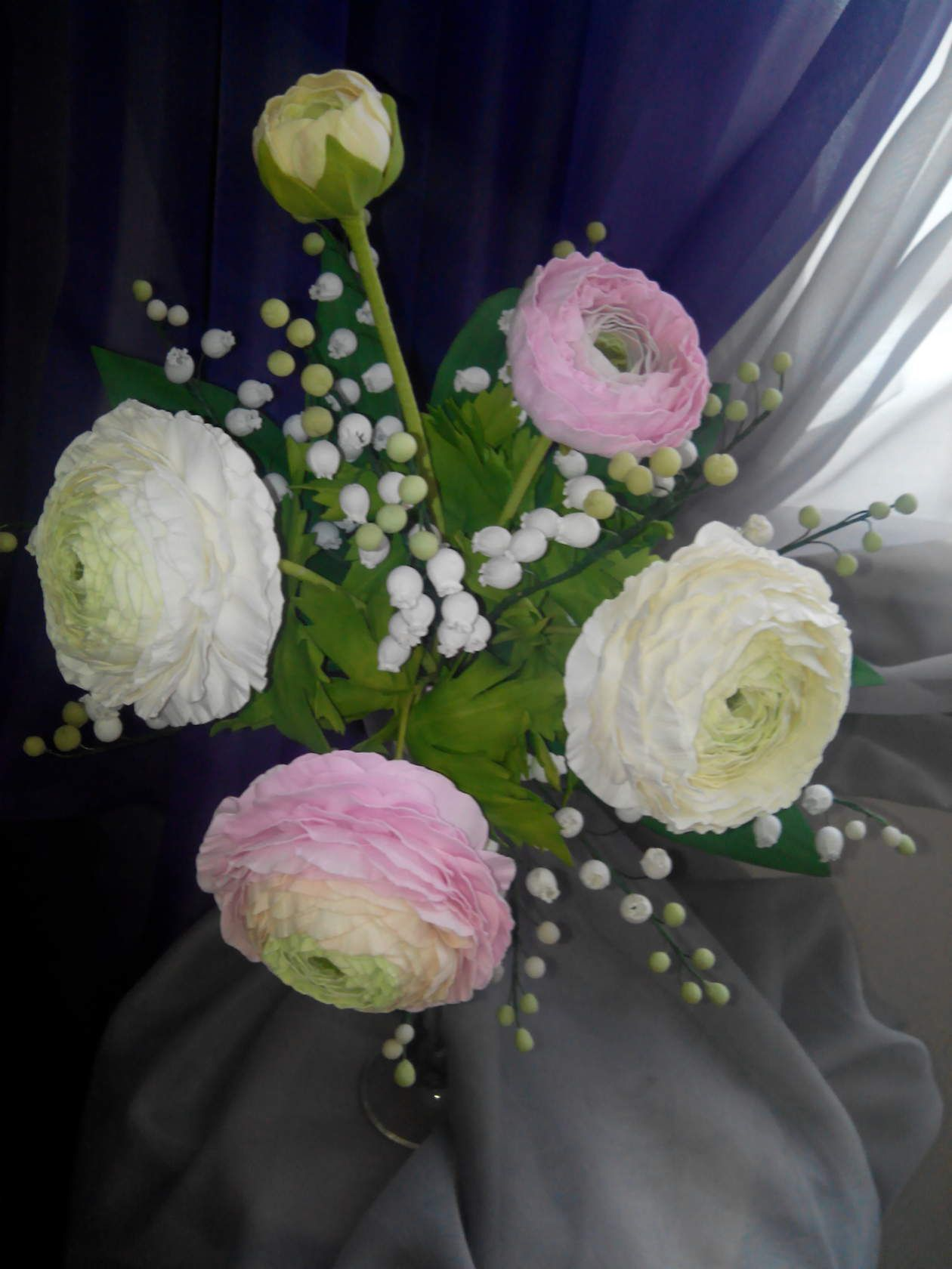flowers artificial present handmade