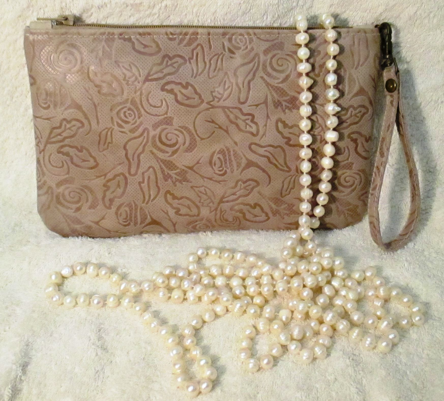leather accessories bag beige clutch floral