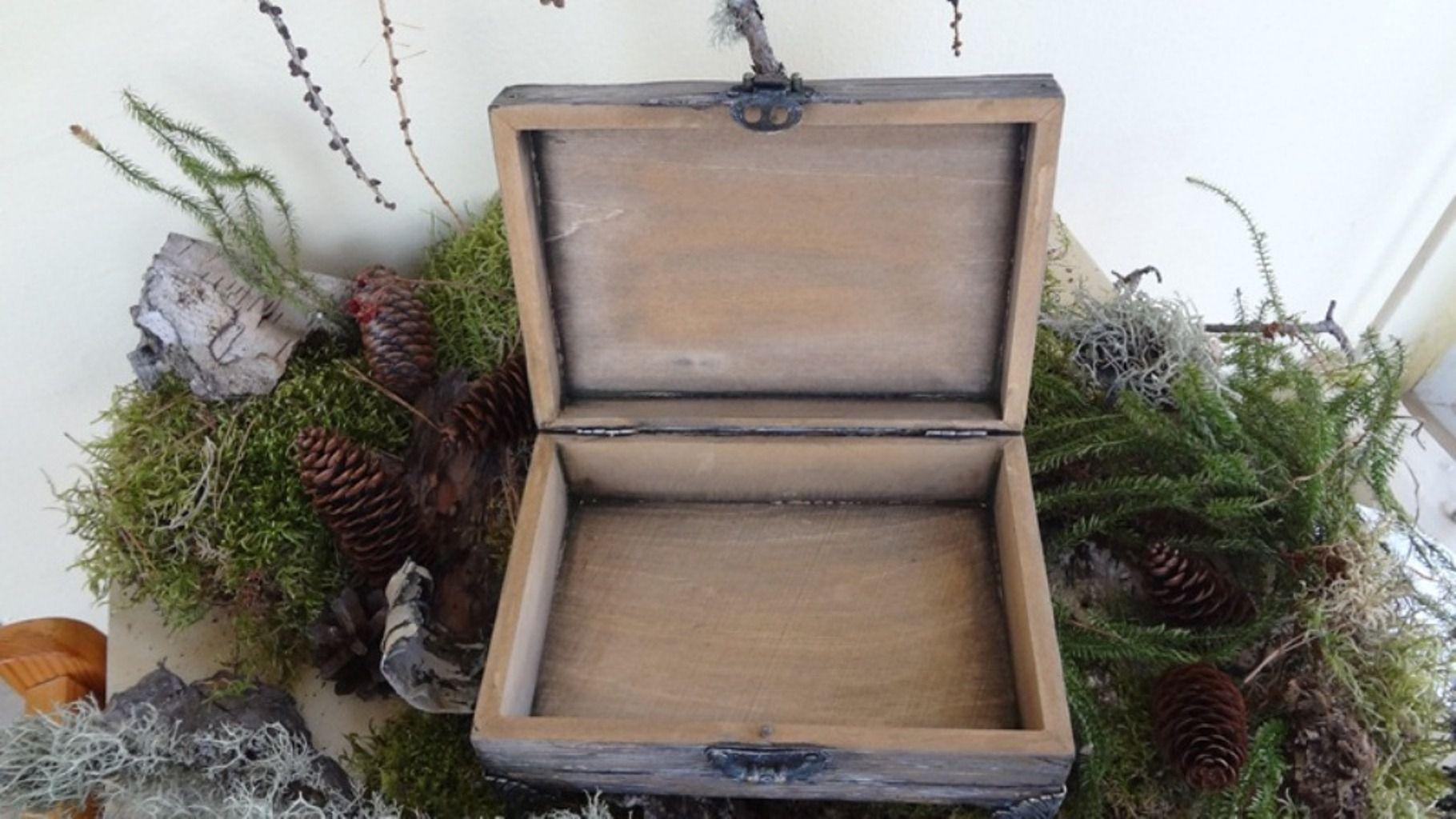handmade flowers wood casket old imitation