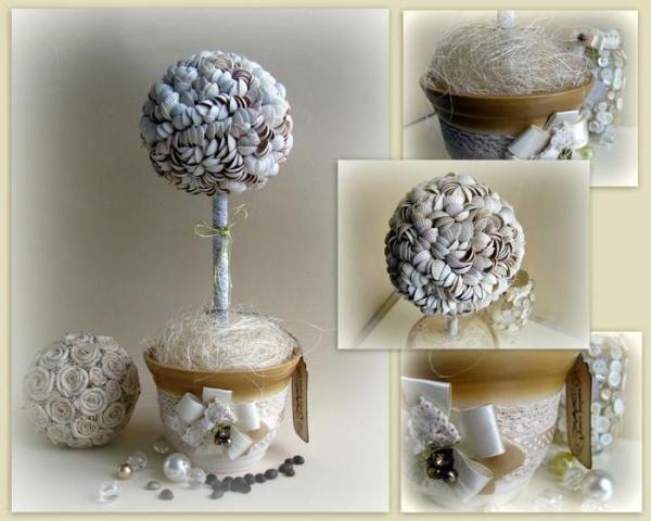 diyfromshells abbi_home flowerpot plate topiary