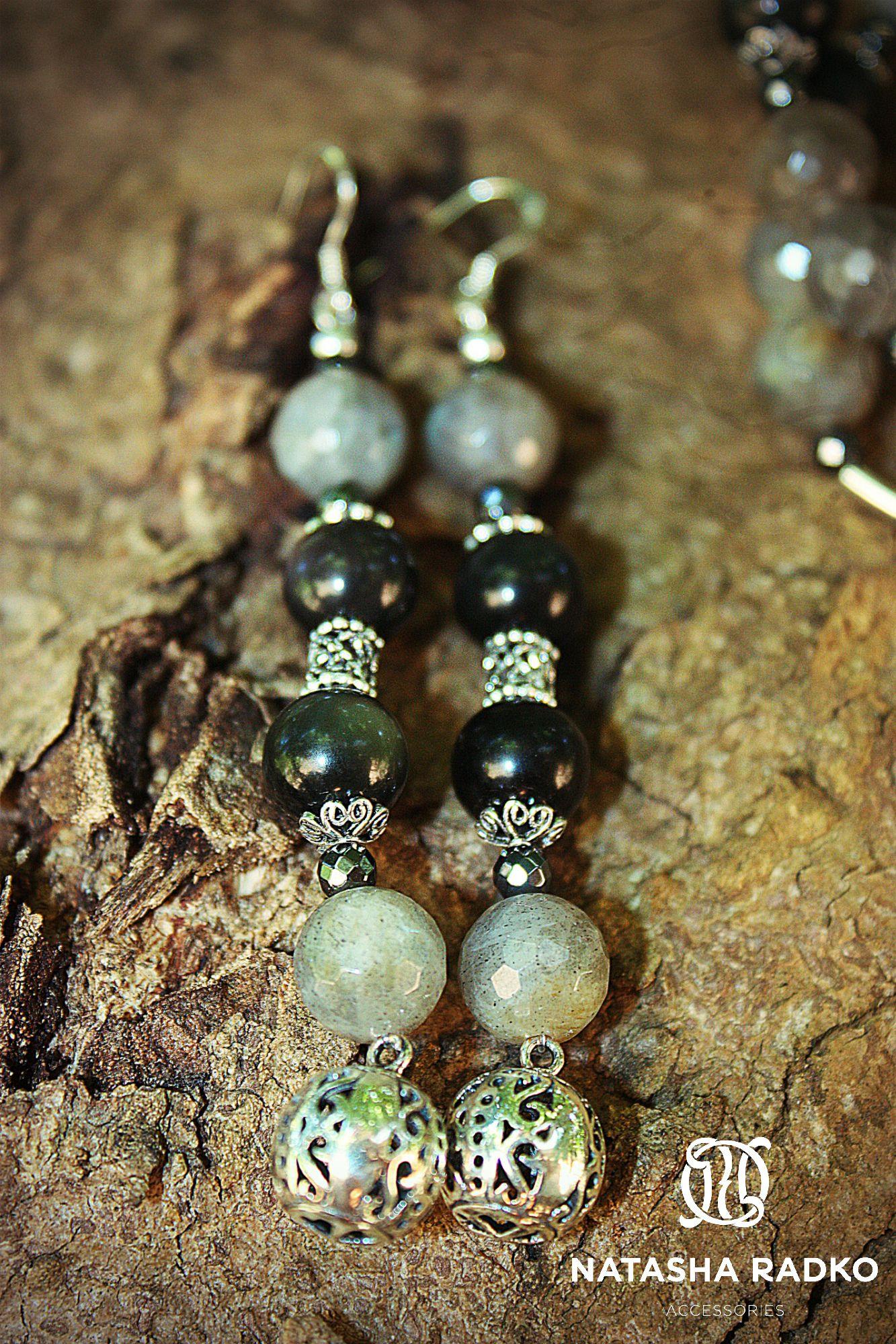 hawk's-eye set present earrings wristlet jewelry necklace labradorite