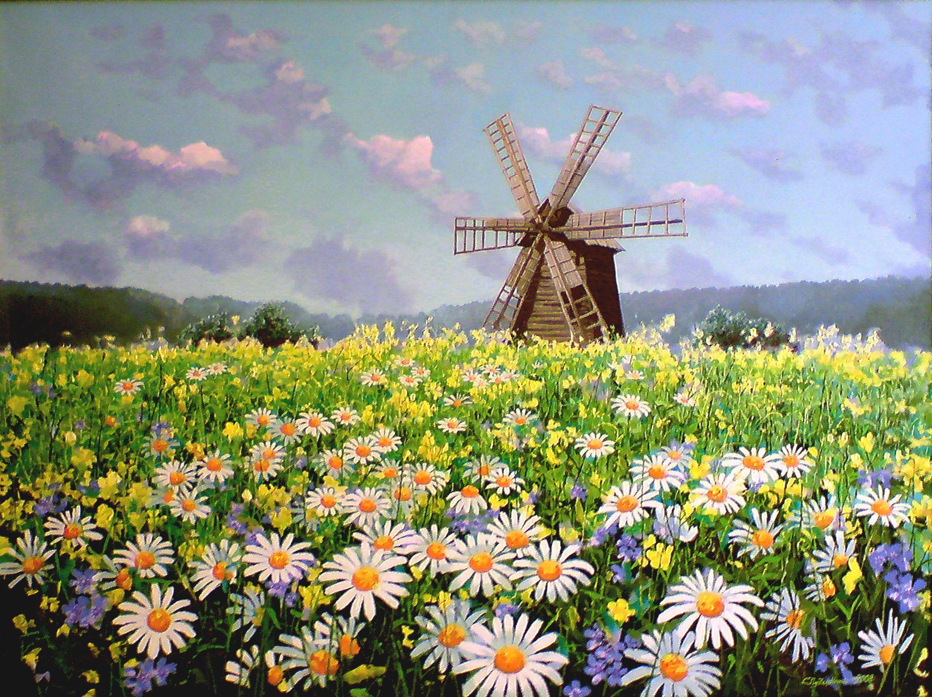 landscape interior picture painting art