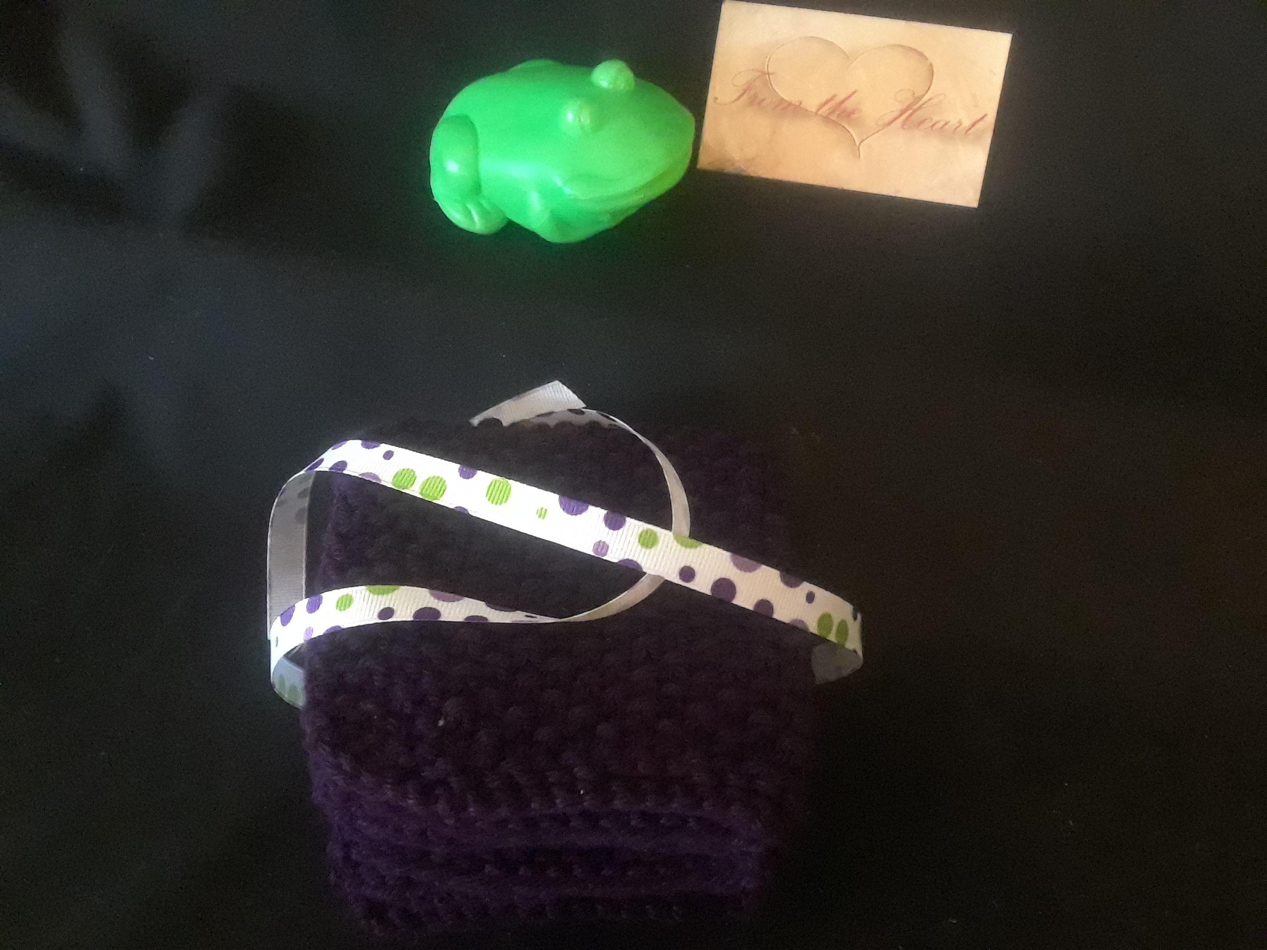 cotton baby knit bath soft washcloth purple