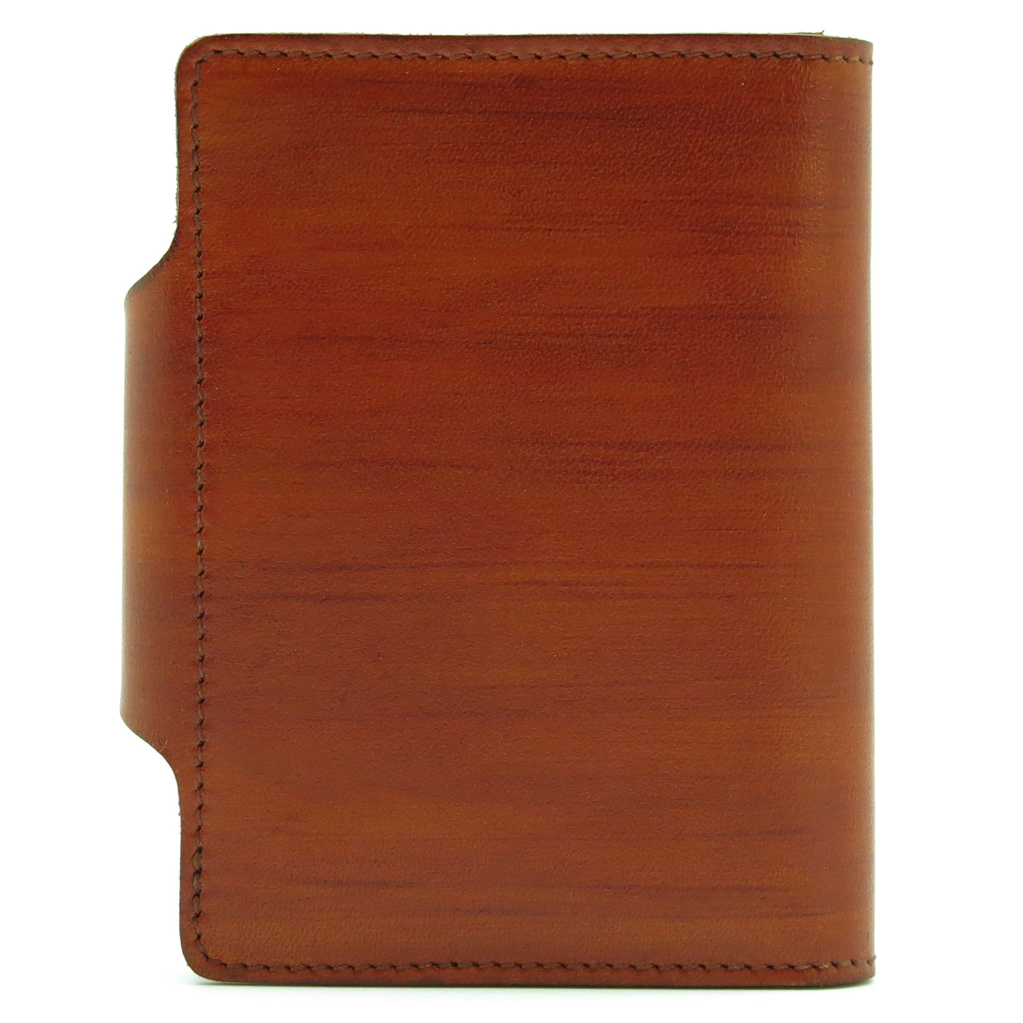 accessories leather orange handmade cardholder