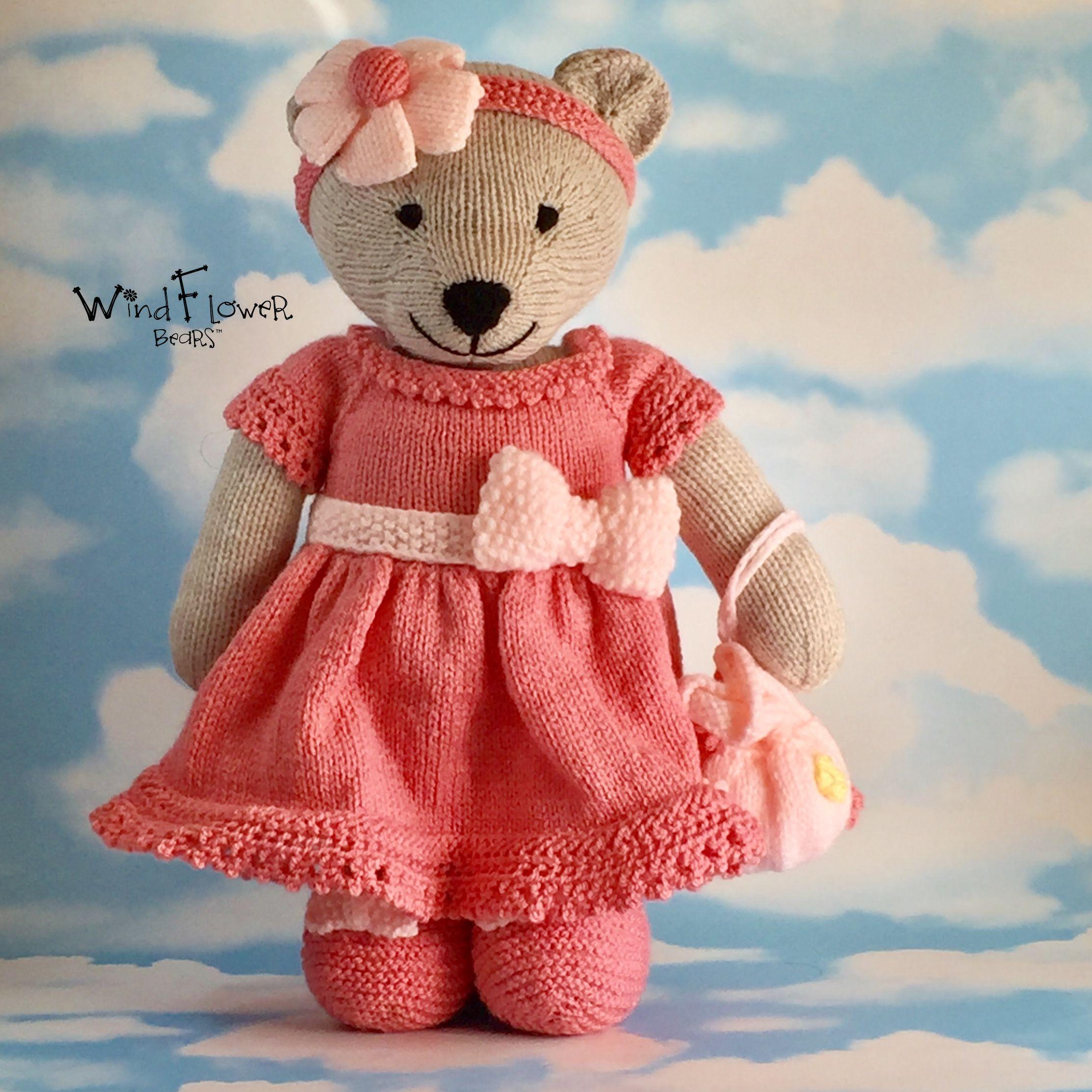 gift peach bear handmade
