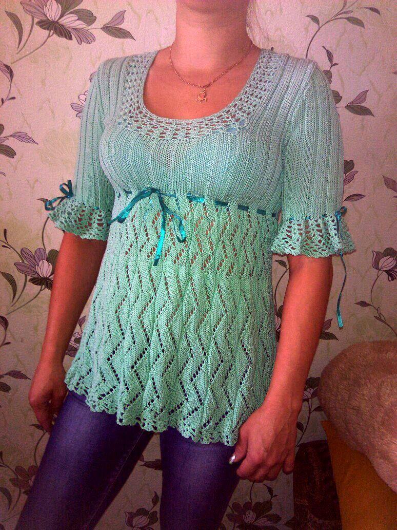 summer dress clothes knitting green