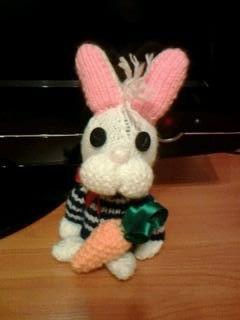 handmade toy kids bird knitting