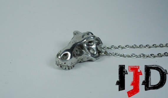 dinosaurs rex dinosaur paleontology pendant skull jurassic tribal jewelry necklace park