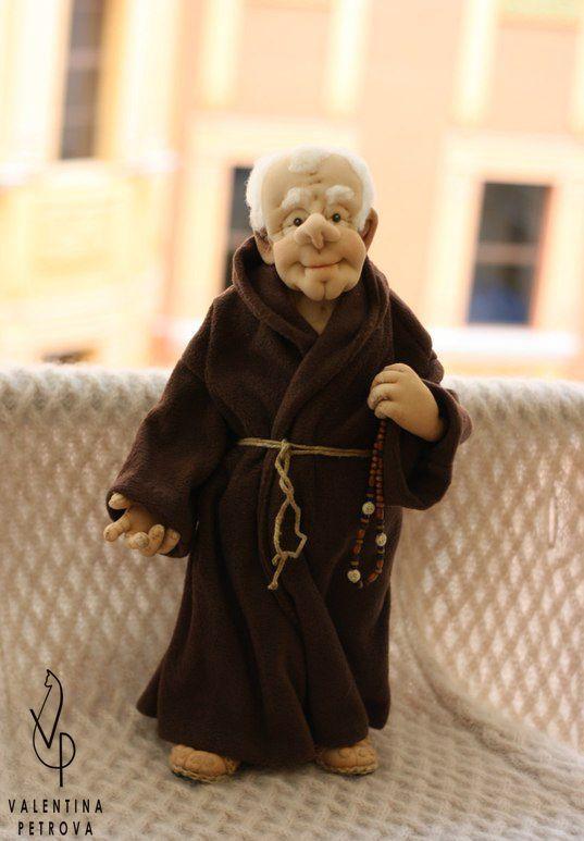 handmade doll gift monk