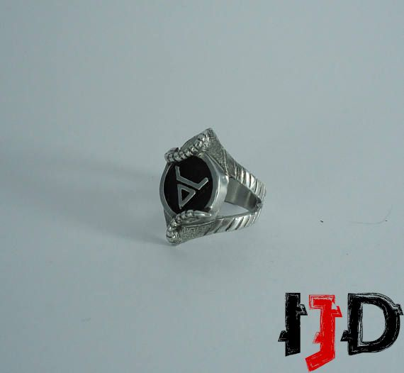 snake wiccan warlock tribal jewelry alternative ring gothic
