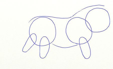 colorful lion draw pencil art