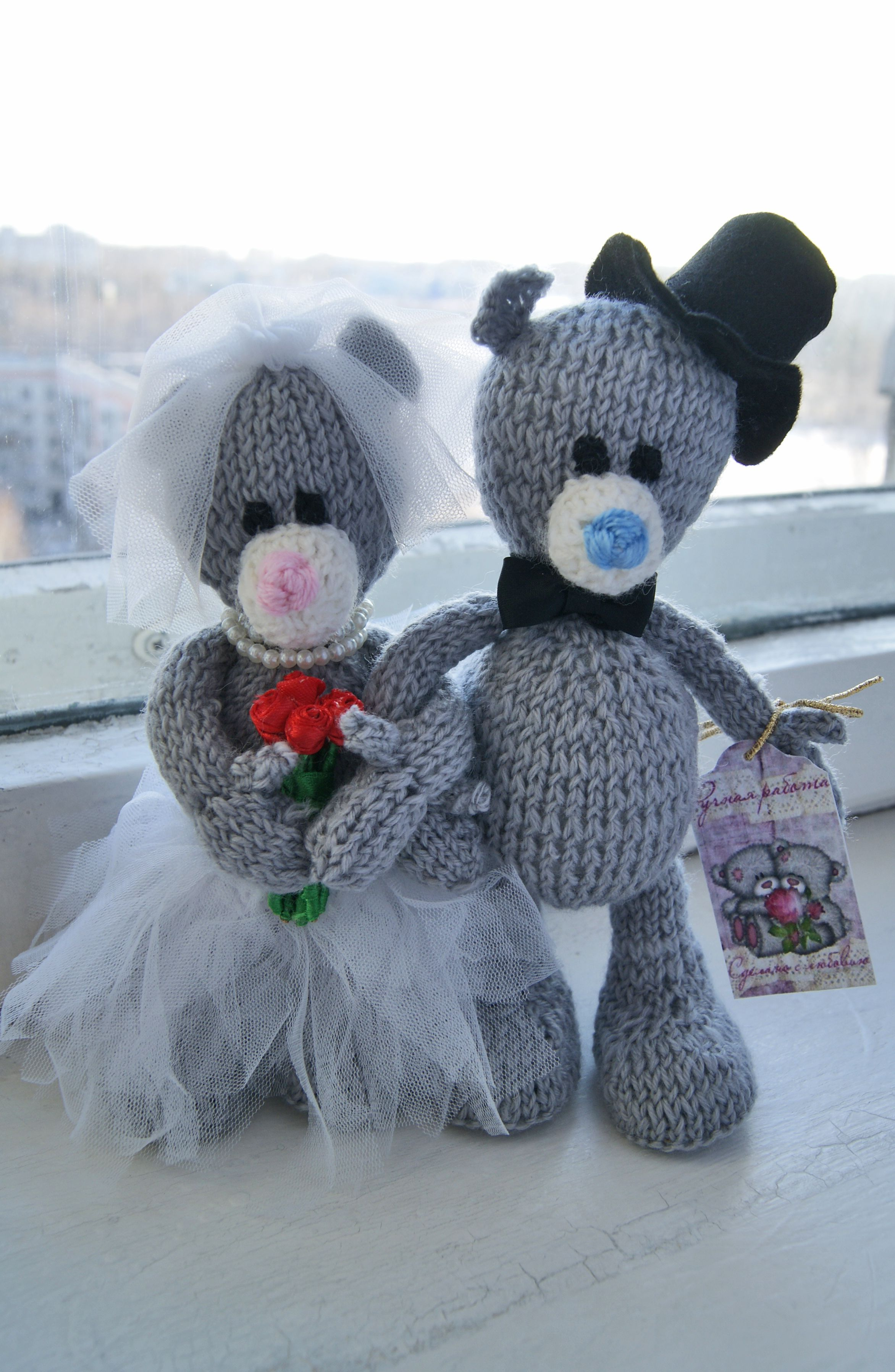 toy gift warm souvenir bride groom teddy family interiortoy brideandgroom weddinggift bear knit