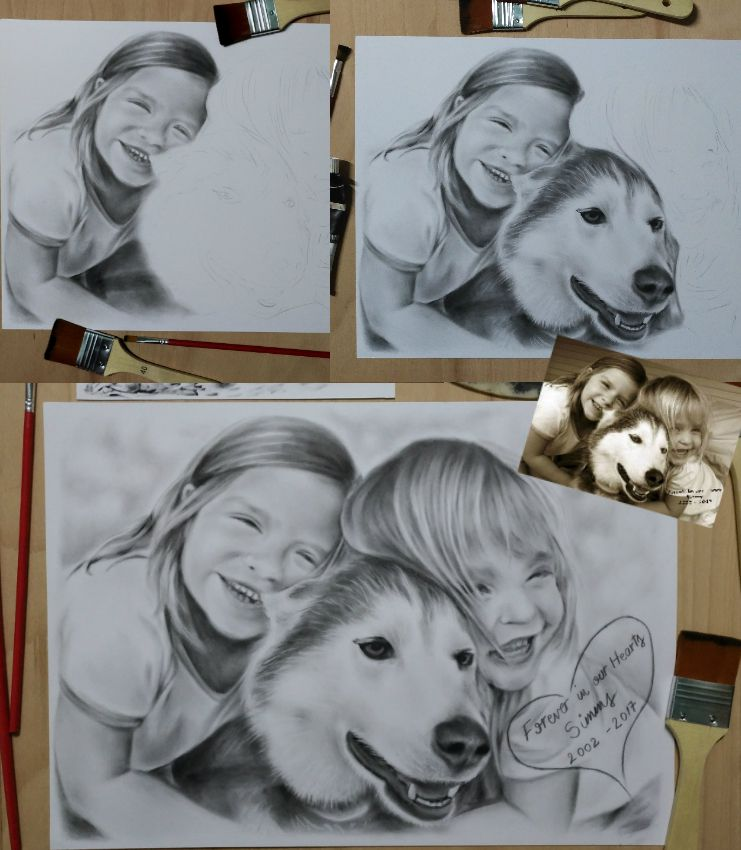 portrait drybrush birthdaygift gift oilonpaper phototodrawing present customportrait christmasgift drawing