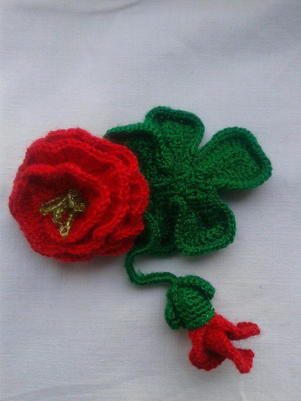 brooch rose bobbypin