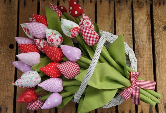 abbihome tulips fabrictulips diypresent diyflowers handmadegift