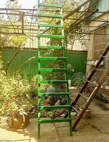 wooden instruction make ladder steps