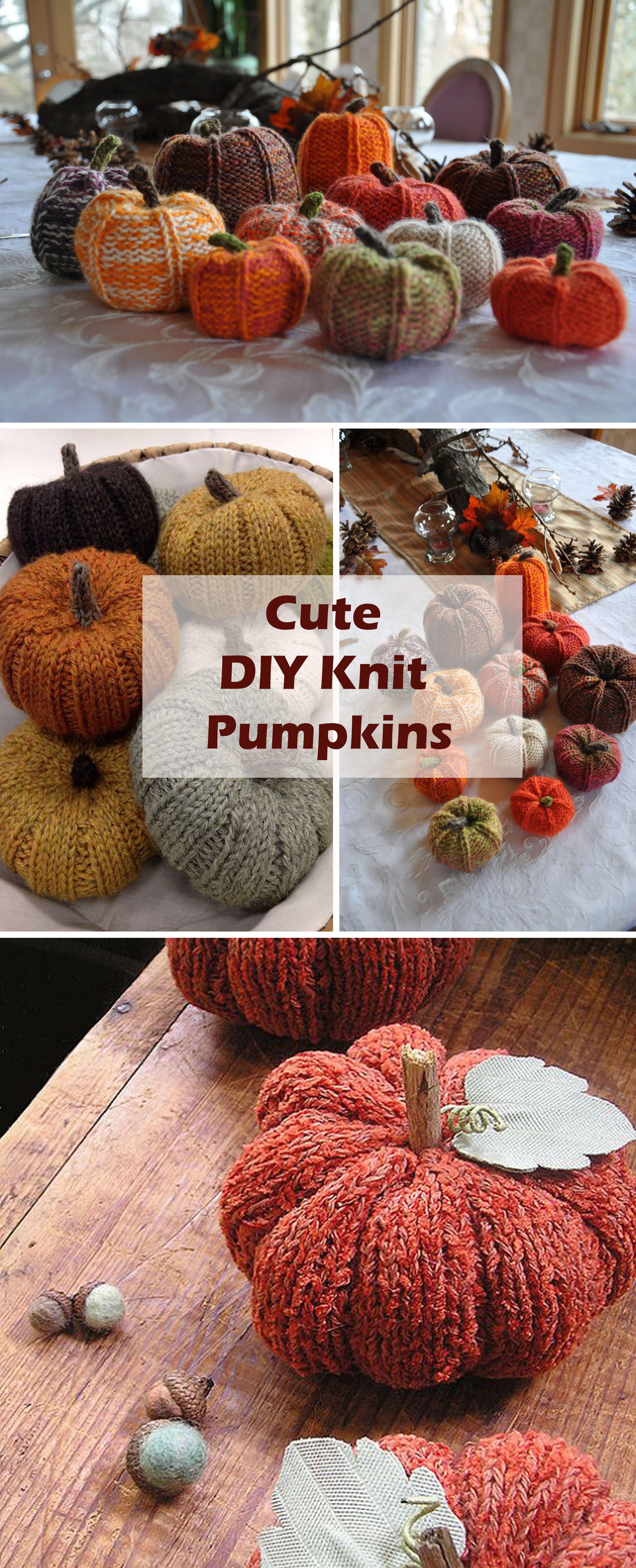 pumpkin autumn knitting fall