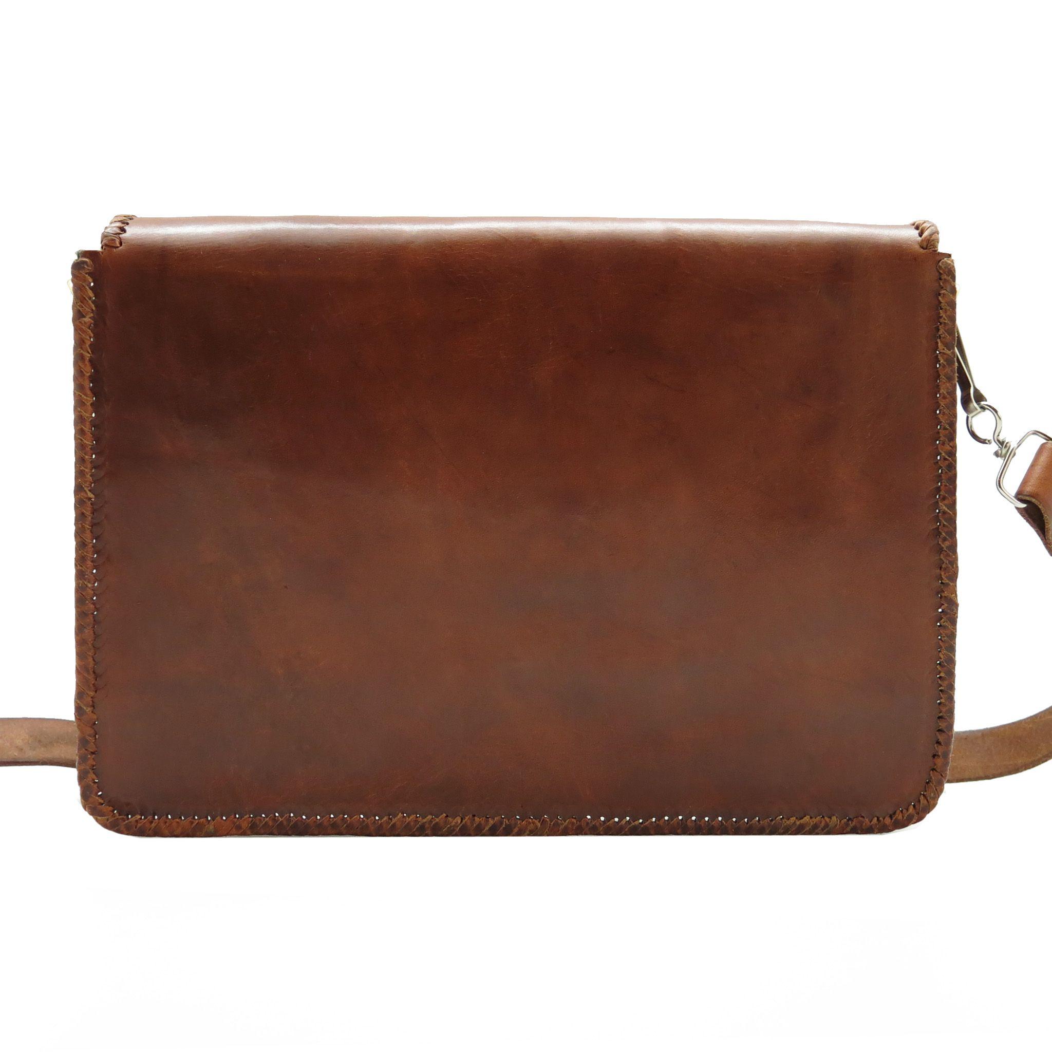 handmade leather bag man laptop
