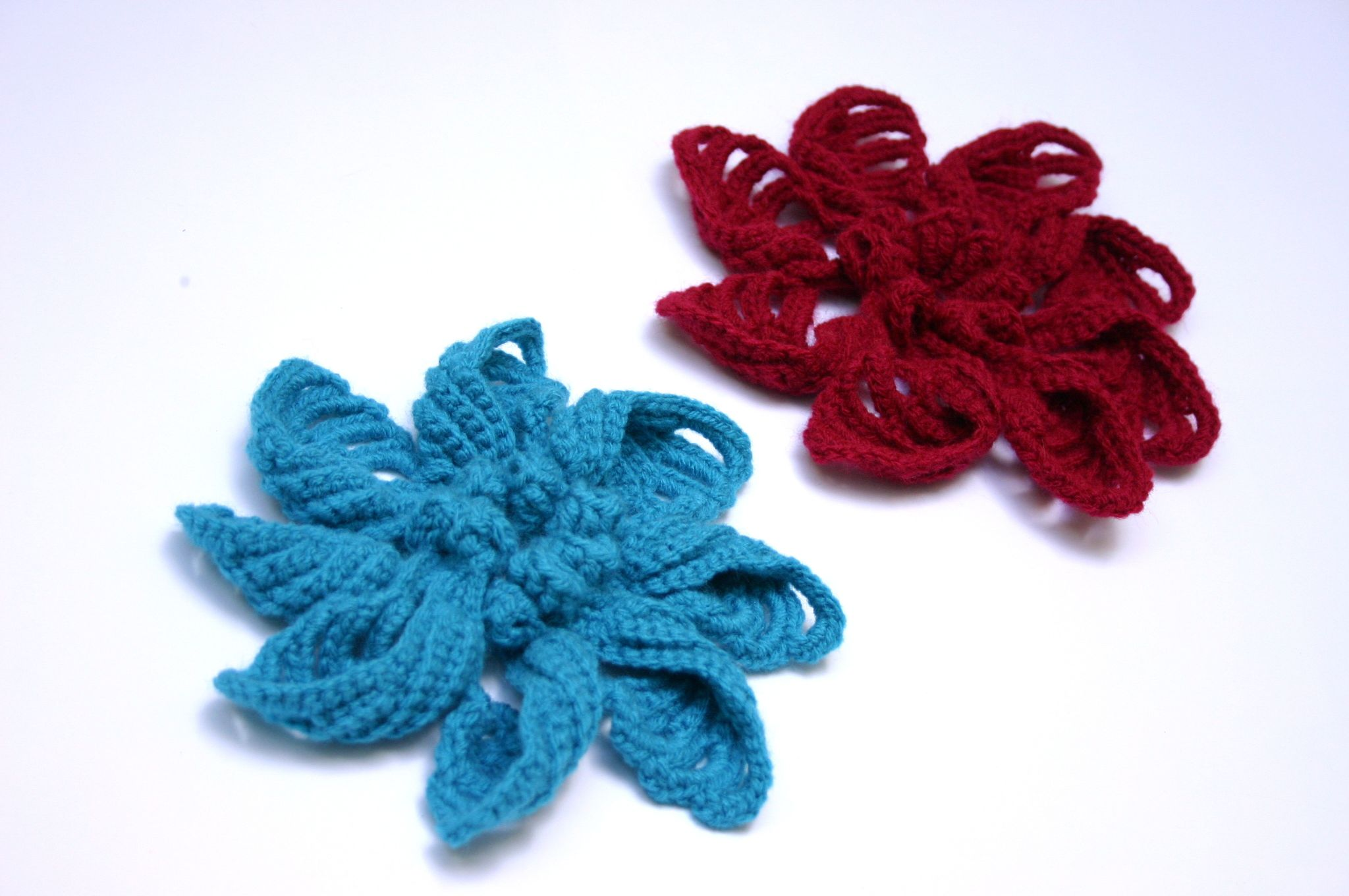 handmade boho flower brooch lace yarn pattern jewelry crochet casual patches pins pinback