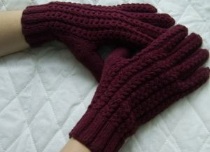 textile gloves knit needles goods