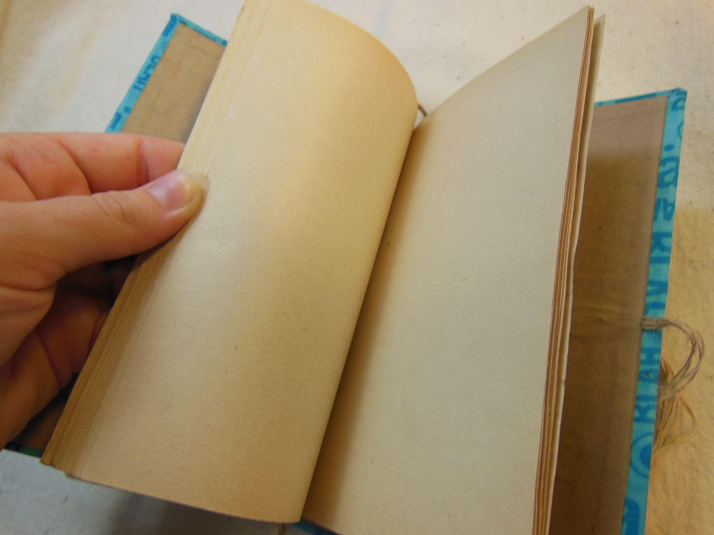 lace notebook cotton blue