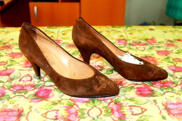 court beautiful shoes brown vintage black retro