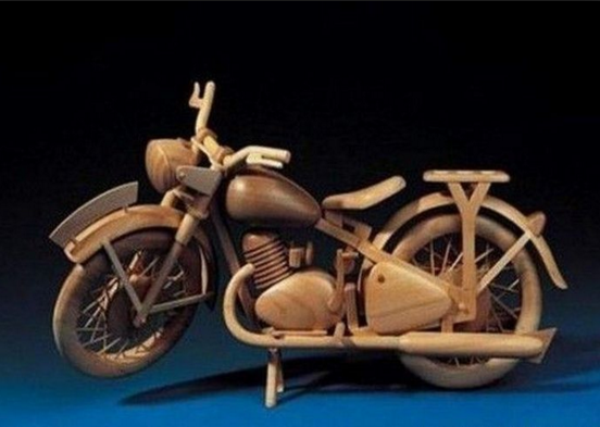 wooden handicraft bike
