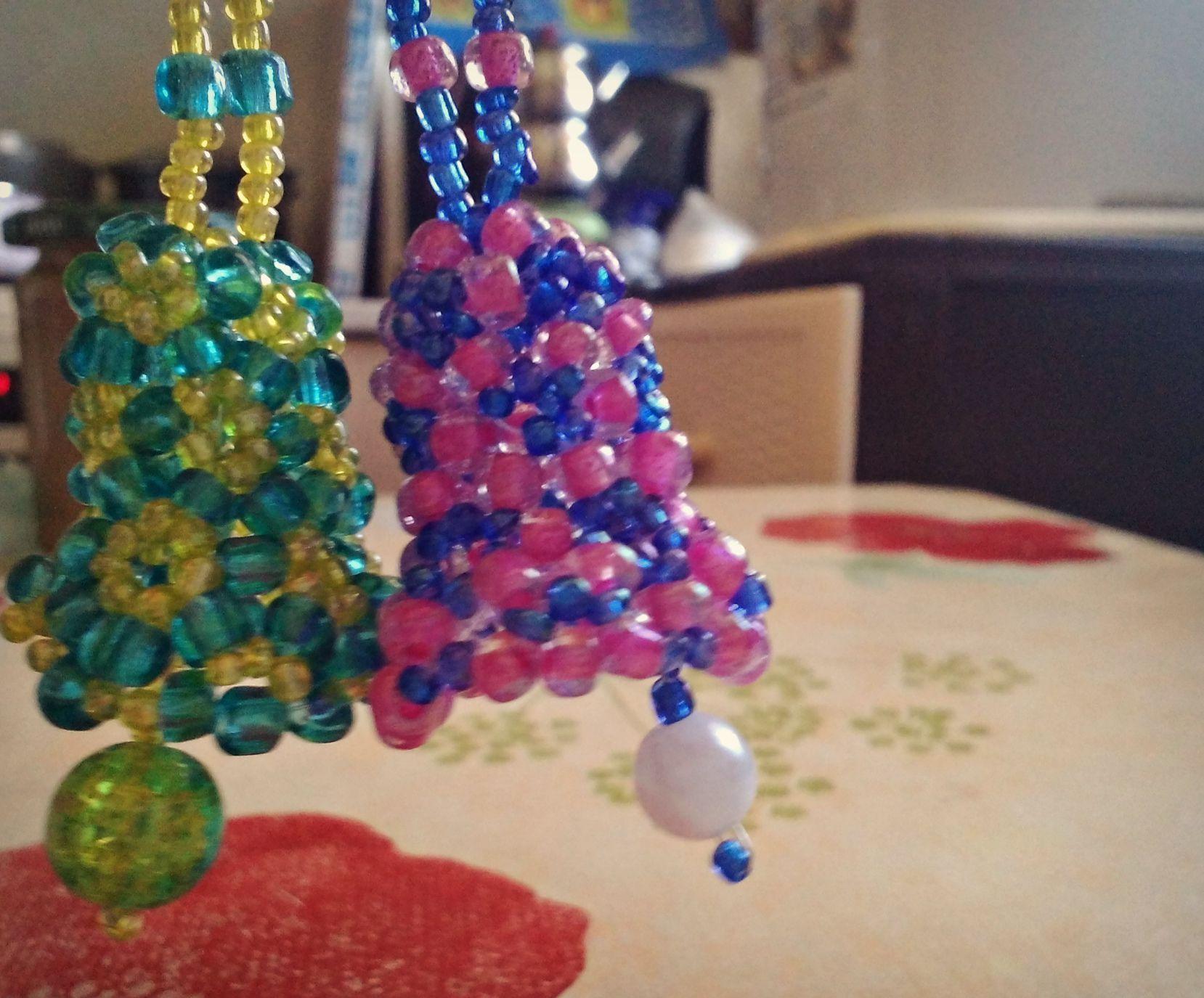 beads glass accessories keyring bells