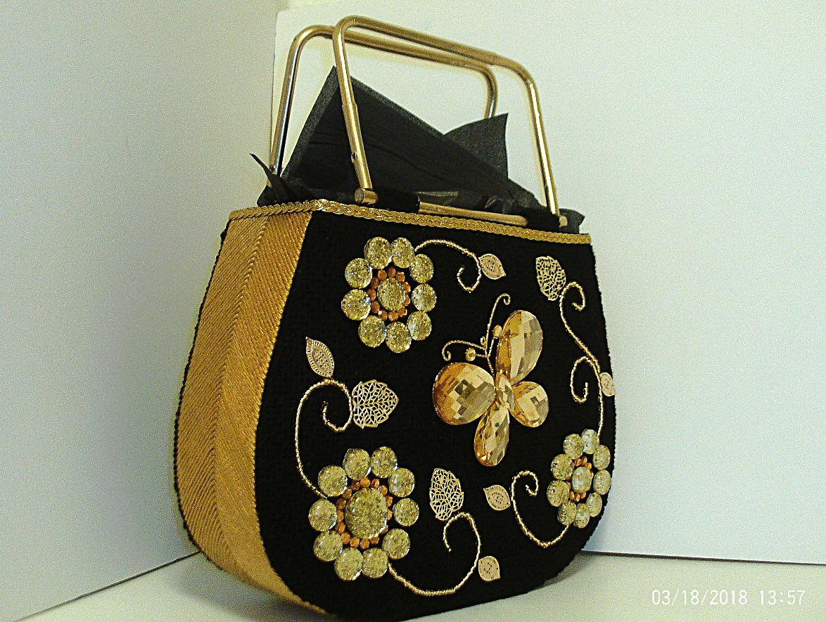 sliver black accesories tote fashionable stylish women jeweled large elegant