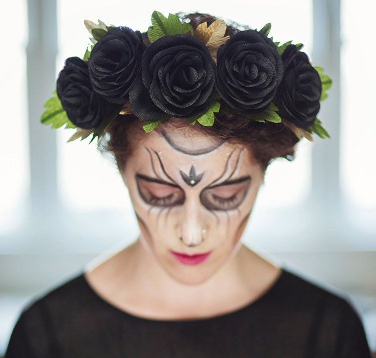 accessories flowers handmade halloween wreath hair project head black idea diy beautiful headwreath
