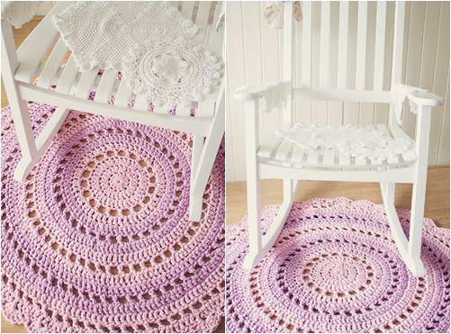 goods textile crochet scheme rug