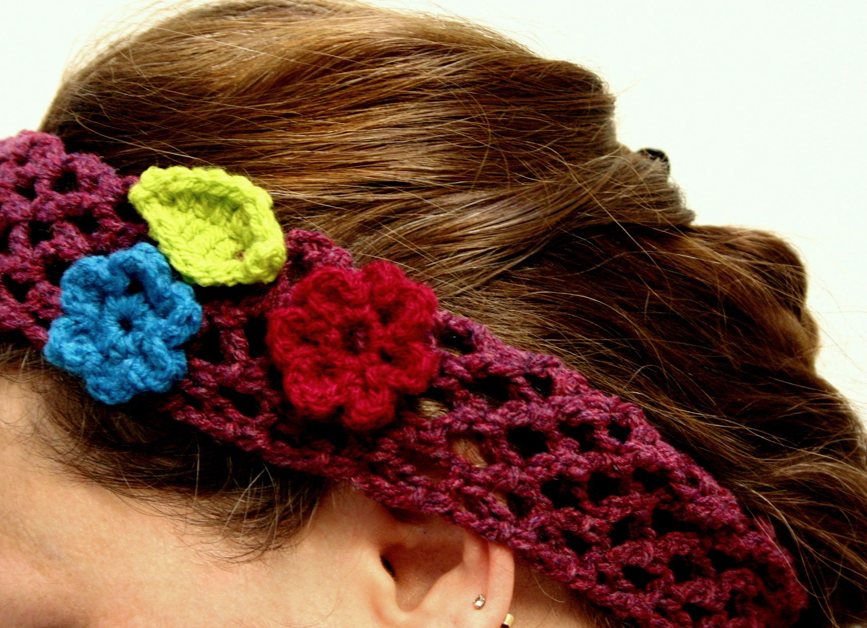 hair bohemian hippie cotton vintage boho crochet accessory headband