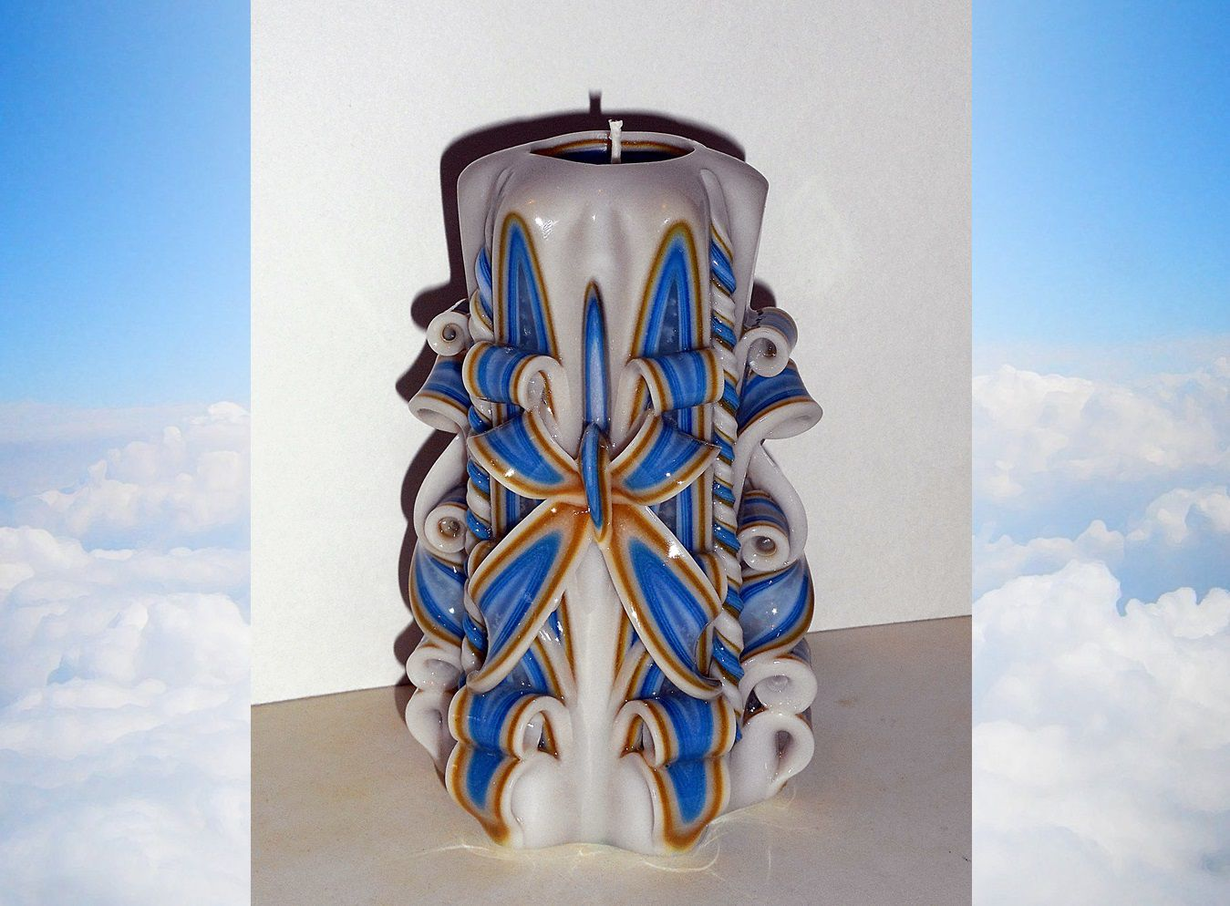 Unique handmade gift candle Hand Carved candles 5 inch//12cm