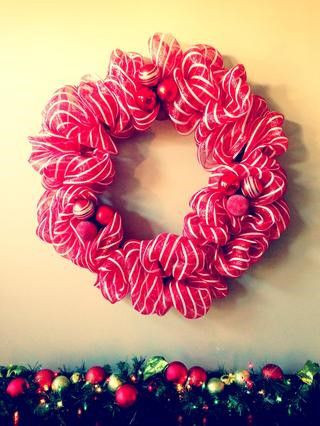 wreath decor mesh make holidays